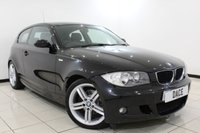USED 2008 08 BMW 1 SERIES 2.0 118I M SPORT 3DR 141 BHP AIR CONDITIONING + RADIO/CD + ELECTRIC WINDOWS + ELECTRIC MIRRORS + 17 INCH ALLOY WHEELS