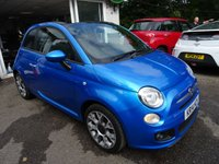 USED 2014 14 FIAT 500 1.2 CONVERTIBLE S (SPORT) 3d 69 BHP Low Mileage, Full Service History (Fiat + ourselves), MOT until July 2019, Convertible, Great on fuel economy! Only £30 Road Tax!