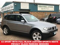USED 2006 06 BMW X3 2.0d SPORT Grey Metallic Full Black Leather Sports Seats 148 BHP X3 Sport with Full Black Leather Sports Seats Privacy Glass Parking Sensors