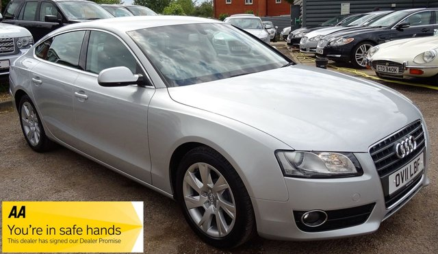 USED 2011 11 AUDI A5 2.7 SPORTBACK TDI SE 5d AUTO 187 BHP  *BLACK LEATHER SPORTS TRIM  **LAST SERVICED @ 71,059 MILES
