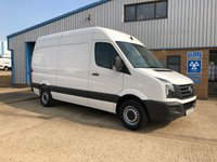 USED 2015 15 VOLKSWAGEN CRAFTER 2.0 CR35 TDI H/R P/V 1d 107 BHP 1 OWNER, MWB, 6 SPEED, CR35, HIGH ROOF, CLEAN VAN.