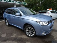 USED 2015 15 MITSUBISHI OUTLANDER 2.0 PHEV GX 3H 5d AUTOMATIC PLUG-IN HYBRID (PHEV) 4x4 162 BHP FOUR WHEEL DRIVE Full Service History (Mitsubishi + ourselves), NEW MOT (to be completed), One Previous Owner, Automatic, Four Wheel Drive, Plug-In Hybrid (PHEV), Manufacturer Stated mpg over 130! Balance of Mitsubishi Warranty until 2020 / 62,500 miles & Balance of Mitsubishi Battery Warranty until 2023 / 100,000 miles. FREE 3-Pin UK Charger included