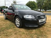 USED 2008 58 AUDI A3 1.9 TDI CONVERTIBLE 73000 MILES BLACK/BLACK ROOF VERY CLEAN CAR