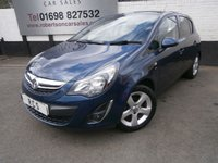 USED 2012 12 VAUXHALL CORSA 1.2 SXI AC 5dr LOW INSURANCE GROUP