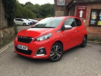 USED 2015 65 PEUGEOT 108 1.2 ALLURE TOP 5d 82 BHP Peugeot 108 allure, 1 lady owner locally owned, Rear Camera, iPod, Tinted Windows, Cruise and Keyless entry,