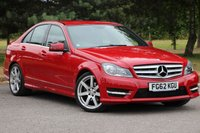 2012 MERCEDES-BENZ C CLASS 2.1 C220 CDI BLUEEFFICIENCY AMG SPORT 4d AUTO 168 BHP £12480.00