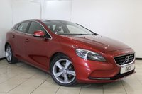 USED 2012 62 VOLVO V40 1.6 D2 SE LUX 5DR 113 BHP SERVICE HISTORY + LEATHER SEATS + BLUETOOTH + PARKING SENSOR + CRUISE CONTROL + MULTI FUNCTION WHEEL + CLIMATE CONTROL + 17 INCH ALLOY WHEELS