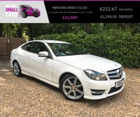 USED 2014 14 MERCEDES-BENZ C CLASS 1.6 C180 AMG SPORT EDITION PREMIUM 2d AUTO 154 BHP 2 OWNERS HALF SUEDE/LEATHER SAT NAV 18 INCH ALLOYS PREMIUM PACK