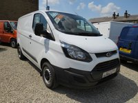 2013 FORD TRANSIT CUSTOM 290 BASE 100PS L1 H1 WORKSHOP VAN with AIR-CONDITIONING £8295.00