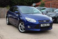 USED 2014 14 FORD FOCUS 1.6 TITANIUM X TDCI 5d 113 BHP **** £20 ROAD TAX * SAT NAV * BLUETOOTH * HEATED SEATS ****