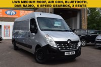 USED 2016 66 RENAULT MASTER 2.3 LM35 BUSINESS PLUS DCI S/R P/V 1d 125 BHP An October 2016 (so still under warranty) Renault Master LM35 dci 125 BUSINESS + in grey metallic for only £11999 + vat.