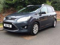 USED 2011 11 FORD GRAND C-MAX 1.6 TITANIUM TDCI 5d 114 BHP 7 SEATER, 2 OWNERS, FULL SERVICE HISTORY, 1YR MOT,  EXCELLENT CONDITION, ALLOYS, AIR CON, PARKING AID,  FOGS, RADIO CD, E/WINDOWS, R/LOCKING, FREE WARRANTY, FINANCE AVAILABLE, HPI CLEAR, PART EXCHANGE WELCOME,