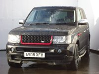 USED 2008 08 LAND ROVER RANGE ROVER SPORT 2.7 TDV6 SPORT HSE 5d 188 BHP JAVA BLACK EDITION, EBONY LEATHER HEATED SEATS, 20 INCH BLACK ALLOYS, SIDE STEPS, 2012 BLACK REAR LED LIGHTS, BLUETOOTH, FRIDGE,