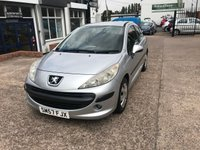 USED 2007 57 PEUGEOT 207 1.4 S 3d 73 BHP NEW MOT SUPPLIED ON PURCHASE-1.4 PETROL ENGINE
