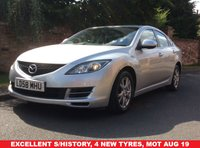 USED 2008 58 MAZDA 6 2.0 TS 5d AUTO 145 BHP NEW ARRIVAL, EXCELLENT SERVICE HISTORY, MOT AUG 19,  EXCELLENT CONDITION, ALLOYS, AIR CON, CRUISE,  FOGS, RADIO CD, E/WINDOWS, R/LOCKING, FREE WARRANTY, FINANCE AVAILABLE, HPI CLEAR, PART EXCHANGE WELCOME,