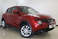 USED 2013 13 NISSAN JUKE 1.5 ACENTA PREMIUM DCI 5DR 110 BHP SUPERB SERVICE HISTORY + SAT NAVIGATION + REVERSE CAMERA + BLUETOOTH + CRUISE CONTROL + MULTI FUNCTION WHEEL + AIR CONDITIONING + 17 INCH ALLOY WHEELS