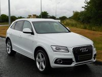 "USED 2013 13 AUDI Q5 2.0 TDI QUATTRO S LINE PLUS 5d AUTO 175 BHP SAT NAV, LEATHER, 20"" ALLOYS"