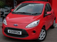 USED 2014 14 FORD KA 1.2 EDGE 3d 69 BHP MANUAL 5 SPEED GEARBOX, COLOUR CODED EXTERIOR, REMOTE CENTRAL LOCKING, GREY / RED CLOTH INTERIOR, AIR CONDITIONING, CD HIFI, AUX INPUT, NON SMOKING PACK, MULTIPLE AIRBAGS, FOLDING REAR SETS, ISO FIX, TRIP COMPUTER, £30 ROAD TAX (115 G/KM), SERVICE HISTORY, 2 OWNERS FROM NEW, HPI CLEAR, PART EXCHANGE TO CLEAR