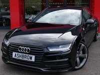 USED 2015 15 AUDI A7 SPORTBACK 3.0 BiTDI QUATTRO S LINE BLACK EDITION 5d AUTO 315 S/S SAT NAV, FULL BLACK LEATHER, BOSE SOUND SYSTEM, DAB RADIO, BLUETOOTH PHONE & MUSIC, AUDI MUSIC INTERFACE (AMI), LED LIGHTS, DIRECTIONAL INDICATORS, FRONT & REAR PARKING SENSORS WITH DISPLAY, 21 INCH ROTOR ALLOYS, ELECTRIC TAILGATE, PRIVACY GLASS, ELECTRIC SEATS WITH DRIVER MEMORY, CRUISE CONTROL, LIGHT & RAIN SENSORS,  AUTO HILL HOLD, 4 ZONE DIGITAL CLIMATE CONTROL, 1 OWNER FROM NEW, FULL SERVICE HISTORY