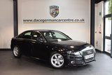 USED 2008 08 AUDI A4 2.0 TDI S LINE AUTO 4DR 141 BHP + FULL BLACK LEATHER INTERIOR + SPORT SEATS + HEATED MIRRORS + AUXILIARY PORT + 17 INCH ALLOY WHEELS +