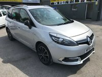 2014 RENAULT GRAND SCENIC 1.6 DYNAMIQUE TOMTOM BOSE PLUS DCI S/S 5 DOOR 130 BHP IN SILVER WITH ONLY 59000 MILES £8999.00
