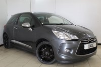 USED 2012 62 CITROEN DS3 1.6 E-HDI AIRDREAM DSPORT PLUS 3DR 111 BHP SERVICE HSITORY + LEATHER SEATS + CRUISE CONTROL + PARKING SENSOR + MULTI FUNCTION WHEEL + CLIMATE CONTROL + 17 INCH ALLOY WHEELS