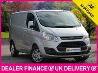 USED 2015 15 FORD TRANSIT CUSTOM 2.2 TDCI LIMITED 125 290 SWB L1H1 PANEL VAN AIR CON 3 SEATS BLUETOOTH 6 SPEED AIR CON CRUISE CONTROL