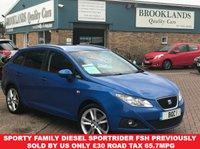 2011 SEAT IBIZA 1.6 CR TDI SPORTRIDER 5 Door Blue Metallic 103 BHP £4295.00