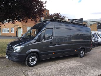 2015 MERCEDES-BENZ SPRINTER 2.1 313CDI LWB HIGH ROOF 130BHP. MET GREY. ROOF-RACK + LADDER.  £12790.00
