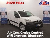 2016 CITROEN BERLINGO 1.6 HDI  ENTERPRISE   Air Con, WiFi, Touch Screen,Bluetooth Connectivity, Cruise Control, Factory Fitted Alarm £6980.00