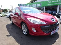 USED 2008 08 PEUGEOT 308 1.6 SPORT 5d 118 BHP TEST DRIVE TODAY....CALL 01543 877320 TODAY....£0 DEPOSIT FINANCE AVAILABLE