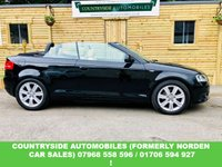 USED 2009 09 AUDI A3 1.8 TFSI SPORT 2d 158 BHP Lovely looking A3 cab finished in best combination of black with cream leather, Sport model with S-line styling (badges)  good tyres all round, Just had tew timing chain kit fitted, new discs and pads all round and just had full service. Looks and drives fantastic and is a real head turner at affordable money. be quick while we still got the sun !
