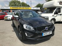 2014 VOLVO XC60 2.4 D5 R-DESIGN LUX NAV AWD 5 DOOR AUTOMATIC 212 BHP IN BLACK WITH ONLY 51000 MILES. £17999.00