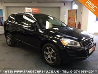 USED 2011 61 VOLVO XC60  2.4D AWD GEARTRONIC AUTO D5 DIESEL SE LUX PREMIUM UK DELIVERY* RAC APPROVED* FINANCE ARRANGED* PART EX