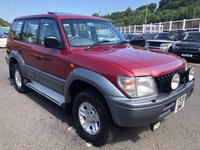 USED 1999 T TOYOTA LANDCRUISER COLORADO COLORADO 3.0 TD Diesel VX Auto LWB 5dr 7 Seater Low Milage, Red 4X4, Tow Pack, Leather, Great History!