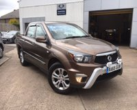 2015 SSANGYONG KORANDO SPORTS 2.0TD EX D/C PICK-UP 153 BHP 4WD £11895.00