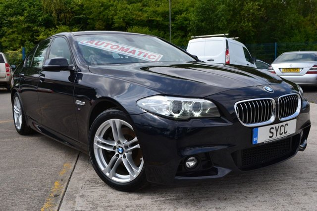 USED 2014 64 BMW 5 SERIES 2.0 520D M SPORT 4d AUTO 188 BHP ~ VAT QUALIFYING £10415.83 + VAT VAT QUALIFYING £10415.83 + VAT ~ SAT NAV ~ HEATED LEATHER ~ 2 KEYS