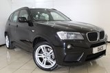 USED 2011 61 BMW X3 2.0 XDRIVE20D M SPORT 5DR AUTOMATIC 181 BHP pro SAT NAV  SERVICE HISTORY + LEATHER SEATS + SAT NAVIGATION PROFESSIONAL + BLUETOOTH + CRUISE CONTROL + MULTI FUNCTION WHEEL + CLIMATE CONTROL + 18 INCH ALLOY WHEELS