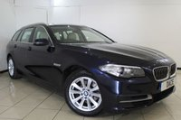 USED 2014 64 BMW 5 SERIES 2.0 520D SE TOURING 5DR AUTOMATIC 181 BHP FULL SERVICE HISTORY + HEATED LEATHER SEATS + SAT NAVIGATION + BLUETOOTH + PARKING SENSOR + CRUISE CONTROL + MULTI FUNCTION WHEEL + 17 INCH ALLOY WHEELS