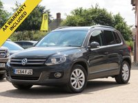 2014 VOLKSWAGEN TIGUAN 2.0 MATCH TDI BLUEMOTION TECHNOLOGY 5d 139 BHP £10995.00