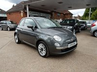 USED 2015 15 FIAT 500 1.2 POP STAR 3d 69 BHP SERVICE HISTORY,TWO KEYS,ALLOYS,AIR CON,
