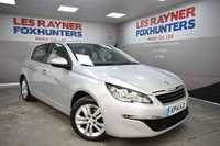 USED 2014 14 PEUGEOT 308 1.6 E-HDI ACTIVE 5d 114 BHP Free Road Tax, Sat Nav, Bluetooth, Cruise control, Rear park sensors