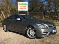 USED 2012 62 MERCEDES-BENZ E-CLASS 3.0 E350 CDI BLUEEFFICIENCY SPORT 2dr AUTO Full Leather, PDC, Sat Nav