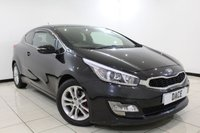 USED 2013 63 KIA PRO CEED 1.6 PRO CEED S ECODYNAMICS 3DR 133 BHP SERVICE HISTORY + BLUETOOTH + PARKING SENSOR + CRUISE CONTROL + AIR CONDITIONING + MULTI FUNCTION WHEEL + 16 INCH ALLOY WHEELS