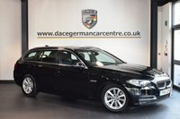 USED 2015 15 BMW 5 SERIES 2.0 518D SE TOURING 5DR AUTO 148 BHP + FULL BLACK LEATHER INTERIOR + FULL BMW SERVICE HISTORY + SATELLITE NAVIGATION + BLUETOOTH + HEATED SPORT SEATS + PARKING SENSORS + DAB RADIO + 17 INCH ALLOY WHEELS +
