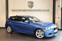 USED 2014 14 BMW 1 SERIES 2.0 120D M SPORT 3DR AUTO 181 BHP + FULL BMW SERVICE HISTORY +SATELLITE NAVIGATION + BLUETOOTH + SPORT SEATS + XENON LIGHTS + PARKING SENSORS + DAB RADIO + 17 INCH ALLOY WHEELS +