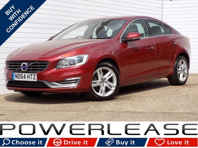 USED 2014 64 VOLVO S60 2.0 D4 SE LUX 4d 178 BHP SAT NAV FREE TAX FSH LEATHER