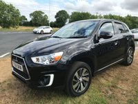 2015 MITSUBISHI ASX 1.8 DI-D 3 black 49000 miles full dealer history compare our price  £8795.00