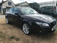 2011 SEAT EXEO 2.0 SE TECH CR TDI satnav,bose,black leather low miles  £6495.00