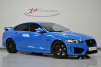 2014 JAGUAR XF 5.0 V8 R-S 4d AUTO 542 BHP FRENCH RACING BLUE & SPORTS EXHAUST £36950.00
